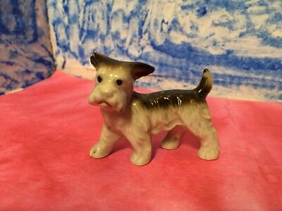 Occupied Japan Playful Fox Terrier type Dog Puppy Vintage