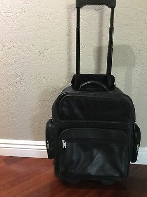 """cd2196935aa4 TravelPro Platinum 3 Black 15"""" Carry On Rolling Tote Bag Overnight Luggage  9213.  105.00 Buy It Now 25d 1h. See Details. Frye black leather rolling  backpack ..."""