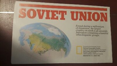 National Geographic Mag -supplement map soviet union    - free post
