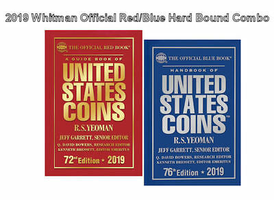 2019 Red Book, Price Guide and 2019 Blue Book, Handbook of U.S. Coins, Hardbound
