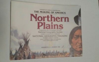 National Geographic Mag -supplement map northern plains usa - free post
