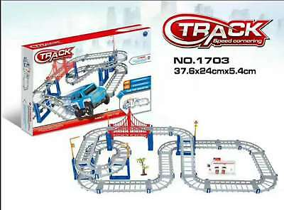4 in 1 Electrical Extreme Challenge Speed Game Multi Levels City Track Car Toy