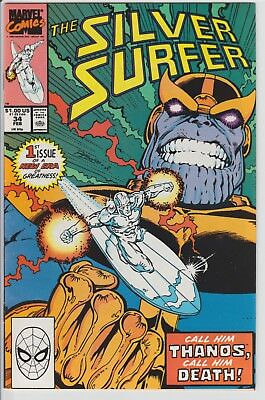 The Silver Surfer #34 Marvel Comics 1990 Thanos Cover Infinity Gauntlet