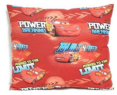Pixar Cars Toddler Pillow on Red Cotton PC18-2 New Handmade
