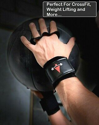72128f28d5ec Leather Palm Protectors Crossfit Grips Hand Guards Wod Gym Glove Pull Up  Lift