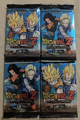 Dragon Ball Z Panini DBZ Evolution Booster Packs x4