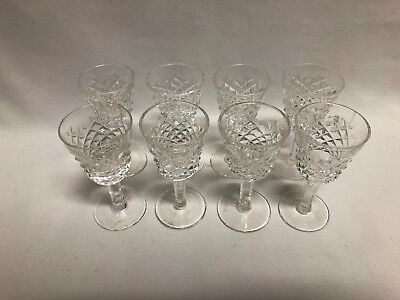 "Waterford Crystal Alana Cordial 3 1/2"" Set of 8"