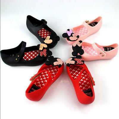fe0d57384f55 Melissa Cartoon Mickey Mouse Mini Girl Sandals Jelly Toddler Kids Princess  Shoes