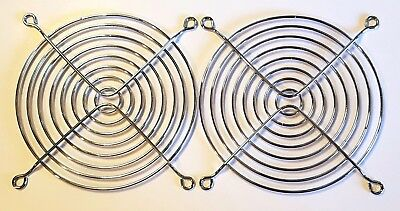 2pcs 120mm 12cm Metal Fan Finger Guard Grill Suit PC Computer Cooling Fan