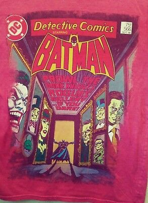 Batman DETECTIVE Comics #487 Cover DISTRESSED Licensed Heather T-Shirt All Sizes