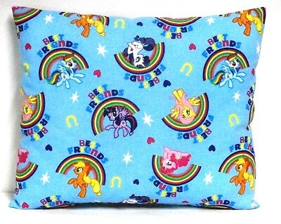 My Little Pony Toddler Pillow on Blue Cotton MLP10-2 New Handmade