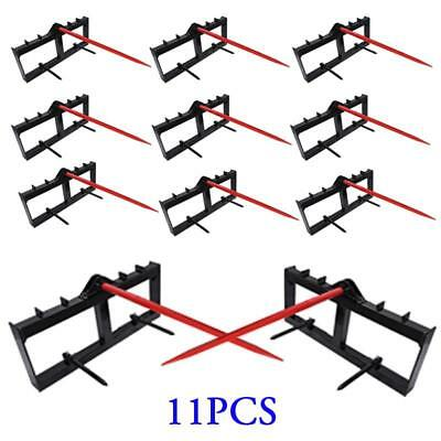 11pcs Tractor Hay Spear Attachment for John Deere 3000 lb Capacity Front Loader