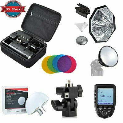 US Godox 2.4 TTL HSS Two Heads AD200 Flash +Xpro-S Trigger for Sony +Softbox Kit