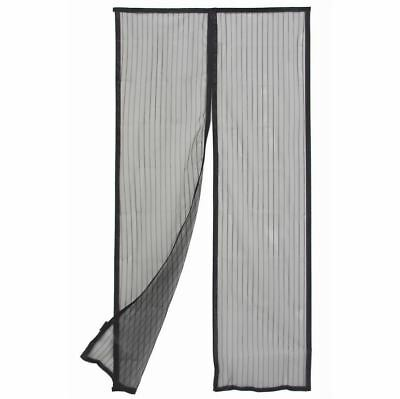 Door Curtain Magnetic - Flyscreen - Black - 900mm x 2000mm - Pillar Products