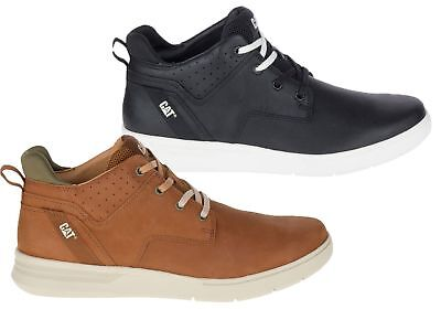 NEW MENS CATERPILLAR Warrant Leather Wide Fit Lace Up Casual Shoes ... 7f5952a971b