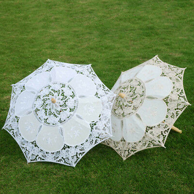 Vintage Bridal Lace Umbrella Women Parasol Decor Wedding Party Photography AU