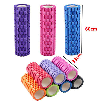 Physio EVA Yoga Foam Massage Roller Gym Fitness Pilates Trigger Point 33/60CM