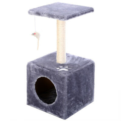 Cat Tree Post Scratcher Furniture Play House Pet Bed Kitten Toy Condo