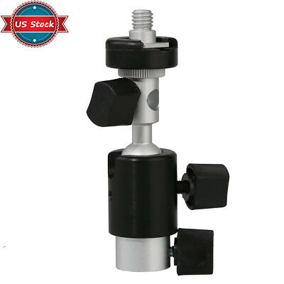 "US 1/4"" and 3/8"" Screw D Type 360° Swivel Flash Bracket Umbrella Stand Holder"