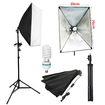 Photography Studio 135W Softbox Continuous Lighting Soft Box Light Stand Kit New