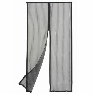 Door Curtain Magnetic - Flyscreen - Black - 1200mm x 2000mm - Pillar Products