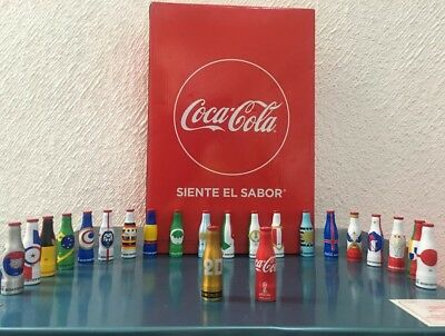 FIFA World Cup 24 Aluminium Bottles Coca Cola Rusia  2018 FIFA Full Collection