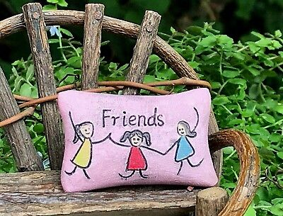 Miniature Dollhouse Mini GARDEN Accessories ~ Resin Fairy Pillow ~ Pink FRIENDS