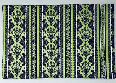 Disney Parks The Haunted Mansion Wallpaper GREEN Reversible Placemat NEW