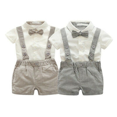 Baby Toddler Boy Wedding Christening Tuxedo Formal Party Suits Outfit Cloth Set