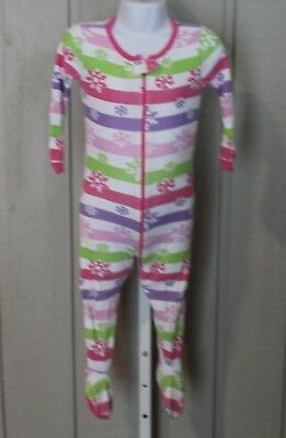 Issues Baby GAP 2 Years Pastel Polka Dot Long Sleeve Zip Up Footed  Pajamas