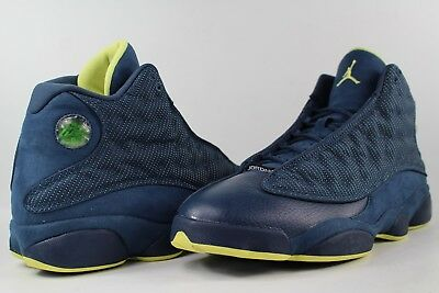 af833041def Nike Air Jordan Retro XIII 13 Squadron Blue Electric Yellow Black Size 11.5  Lot