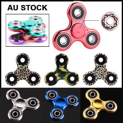 3D Fidget Hand Finger Spinner EDC Focus Stress Reliever Toys For Kids Adults AU