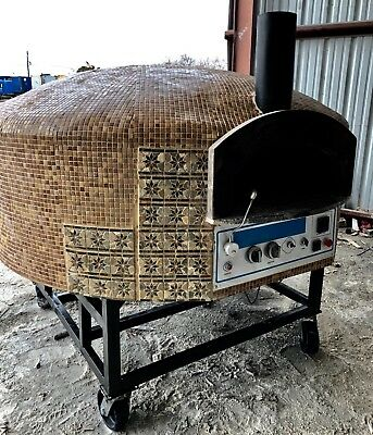 Pizza Oven Commercial Oven Natural Gas and Wood Aroma StoneOven(Rotational Base)