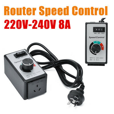 8A 220V-240V Variable Speed Controller Control Motor Rheostat For Router Fan