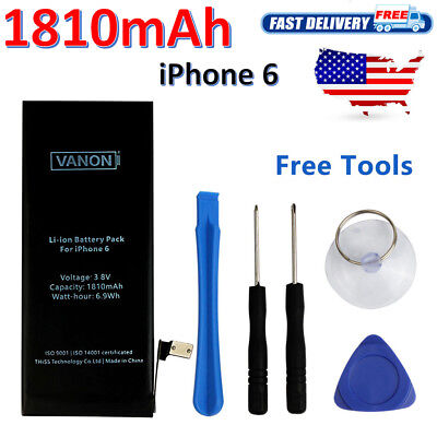 Replacement Internal Battery for iPhone 6 1810mAh + Tools Kit For Apple US STOCK