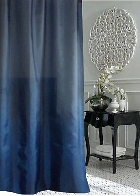 Evening Blue Fabric Shower Curtain 1m W New Free Shipping