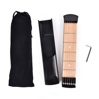 Portable Pocket Guitar Practice 6 Strings Guitar Trainer Gadget for Beginner  WH