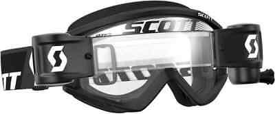 Scott Recoil Xi WFS Black/Wh Clear lens MX Motocross Goggle With Roll Off System