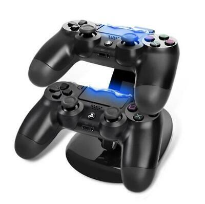 For Sony PS4 Dual Controller LED USB Charging Fast Charger Dock Station