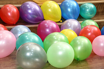 "100pc 12"" Multi Colour Latex Pearl Balloons Birthday Wedding Party Decor Balloon"