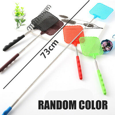 Extendable Telescopic Plastic Insect Handle Fly Swatter Prevent Mosquito Tool