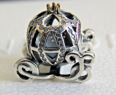 New PANDORA  DISNEY Cinderellas Pumpkin Carriage Charm Sterling Silver S925