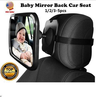 Baby Car Seat Rear View Mirror Facing Back Infant Kids Child Toddler Safety QC#