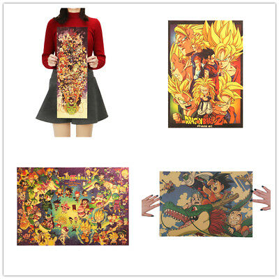 NEW Large Collection Cartoon Kraft Retro Poster Cafe Wall Decorative Painting
