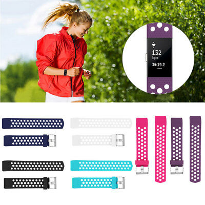 S/L Replacement Sports Silicone Watch Band Strap Bracelet For Fitbit Charge 2