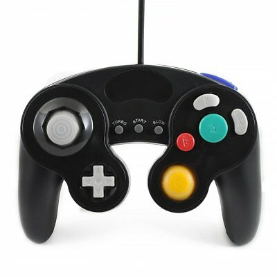 BLACK WIRED CLASSIC CONTROLLER JOYPAD GAMEPAD FOR NINTENDO GAMECUBE GC Wii 2018