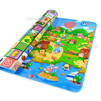 2mx1.8m Waterproof Baby Crawl Play Mat Kids Foam Puzzle Game Blanket Picnic Rug