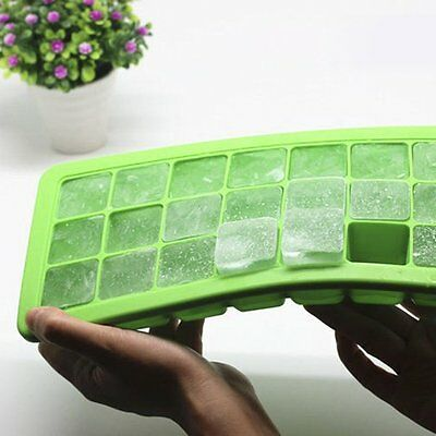 1X Baby Weaning Food Freezing Cubes Tray Freezer Storage Safety Silicone Green