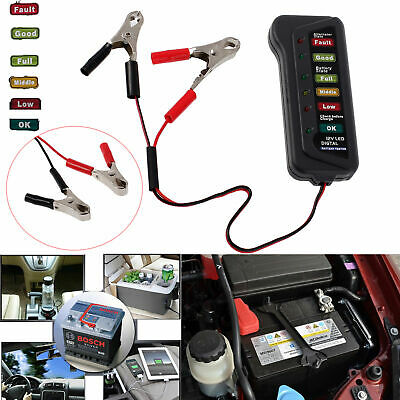 12V Volt Auto Digital Car Battery Alternator Load 6 LED Light Battery Tester NEW