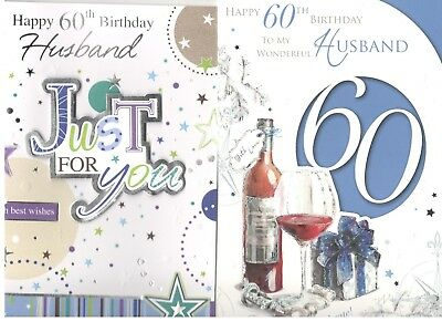 60th Birthday Card For Husband Various Designs To Choose From